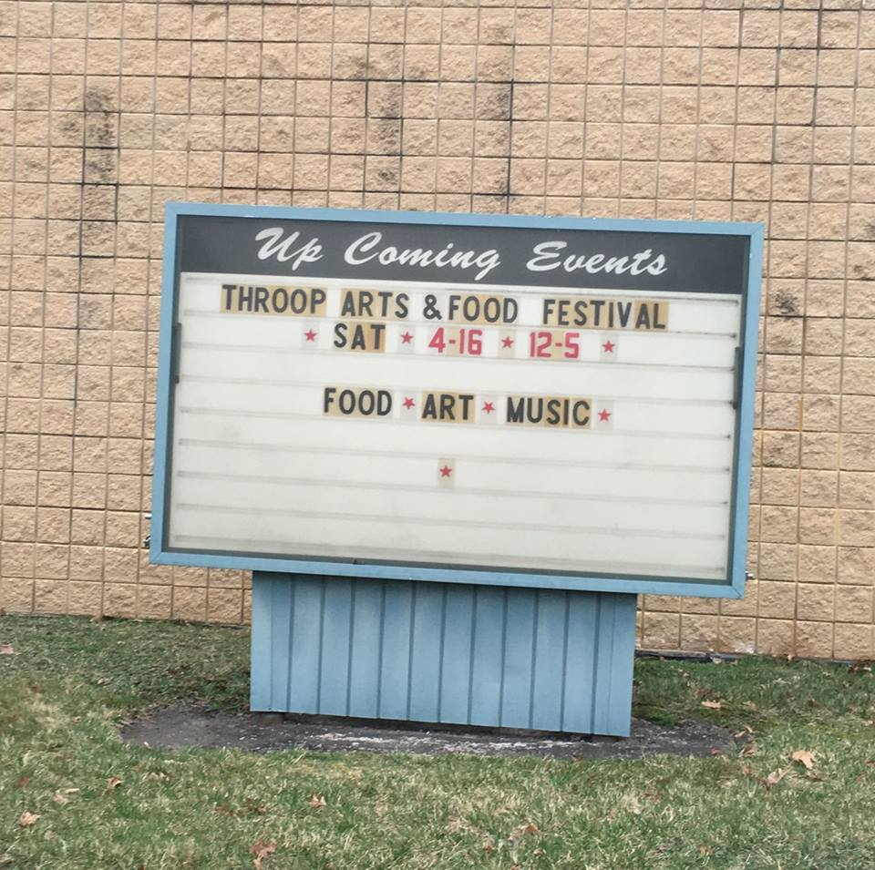 Throop Festival Sign
