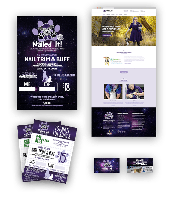 Nailed It brand collateral and website