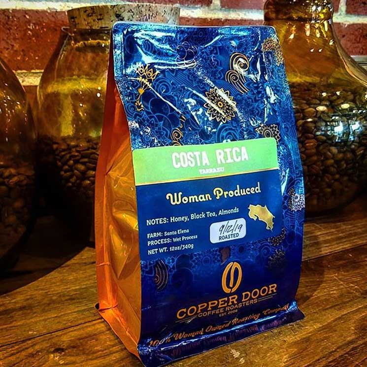 costa rica coffe by copper door coffee roasters featured in galentine's day gift guide