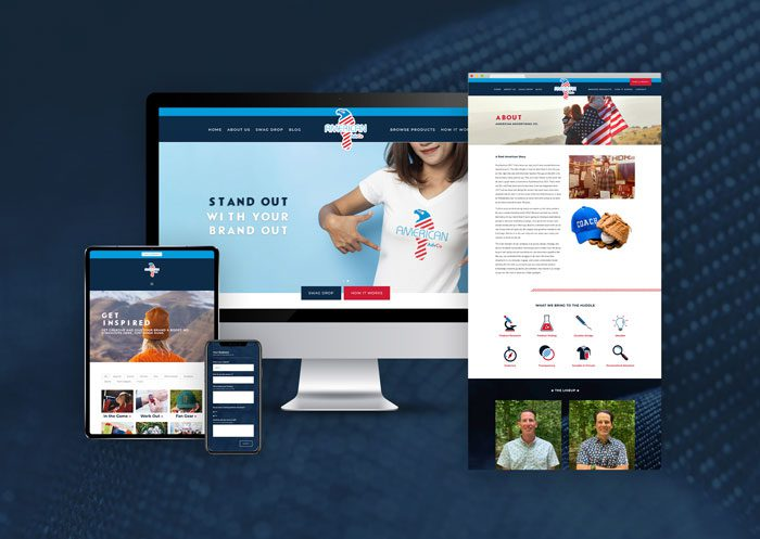 American Advertising Company Web Mock with background